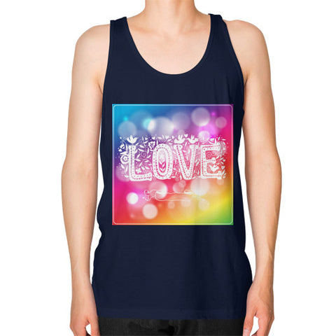 Unisex Fine Jersey Tank (on man) Navy - Healthcare Blood Test Store