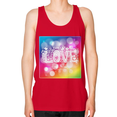 Unisex Fine Jersey Tank (on man) Red - Healthcare Blood Test Store