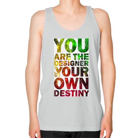 Unisex Fine Jersey Tank (on man) Silver - Healthcare Blood Test Store