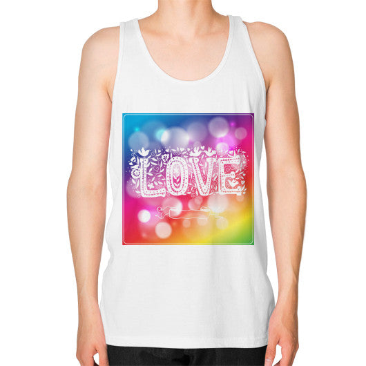 Unisex Fine Jersey Tank (on man) White - Healthcare Blood Test Store