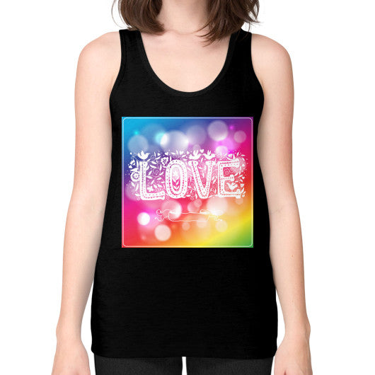 Jersey Tank Tops For Women With Love Sign