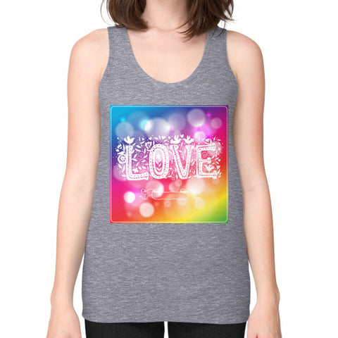 Unisex Fine Jersey Tank (on woman) Tri-Blend Grey - Healthcare Blood Test Store