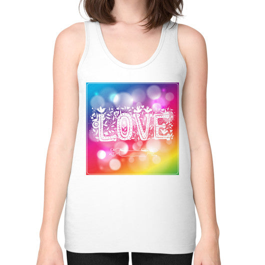 Unisex Fine Jersey Tank (on woman) White - Healthcare Blood Test Store
