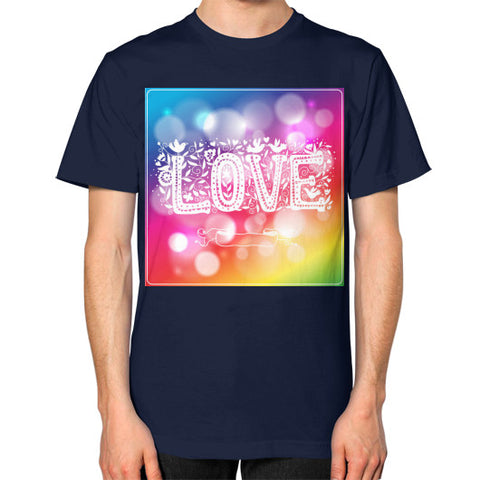 Unisex T-Shirt (on man) Navy - Healthcare Blood Test Store
