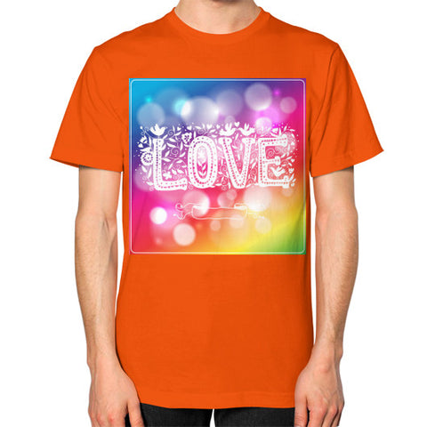 Unisex T-Shirt (on man) Orange - Healthcare Blood Test Store