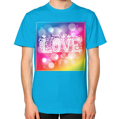 Unisex T-Shirt (on man) Teal - Healthcare Blood Test Store