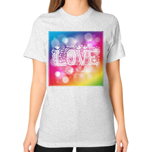 Crew Neck T-Shirt For Women With Love Sign