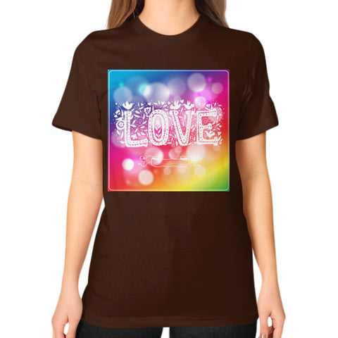 Unisex T-Shirt (on woman) Brown - Healthcare Blood Test Store