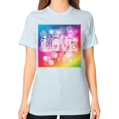 Unisex T-Shirt (on woman) Light blue - Healthcare Blood Test Store