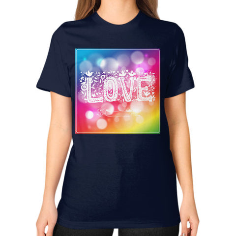 Unisex T-Shirt (on woman) Navy - Healthcare Blood Test Store