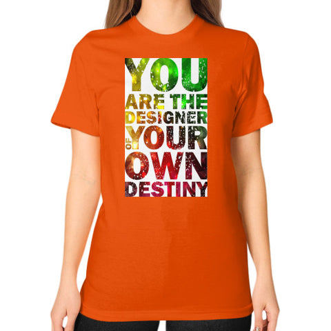 Unisex T-Shirt (on woman) Orange - Healthcare Blood Test Store