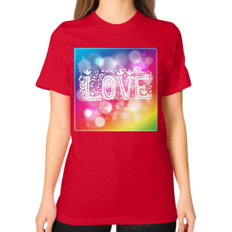 Unisex T-Shirt (on woman) Red - Healthcare Blood Test Store
