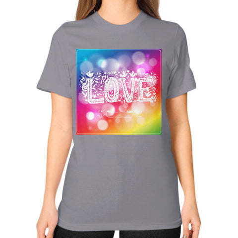 Unisex T-Shirt (on woman) Slate - Healthcare Blood Test Store