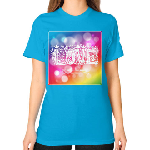 Unisex T-Shirt (on woman) Teal - Healthcare Blood Test Store