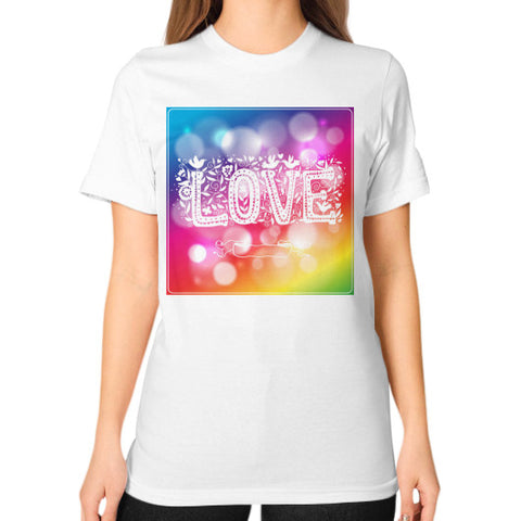 Unisex T-Shirt (on woman) White - Healthcare Blood Test Store