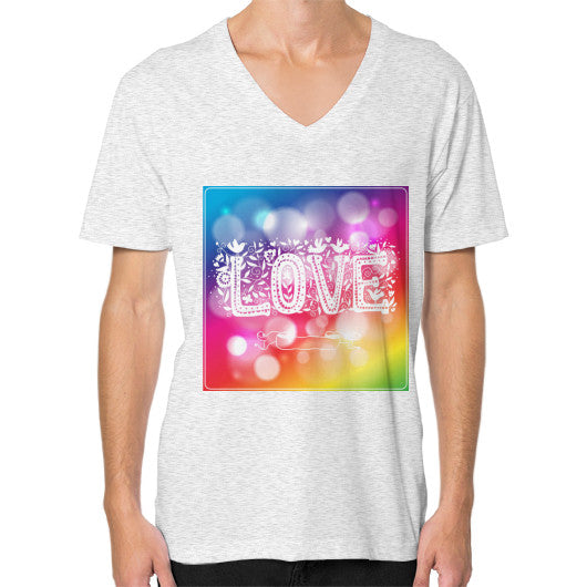 V-Neck T-Shirt For Men With Love Sign