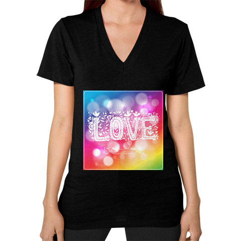 V-Neck (on woman) Black - Healthcare Blood Test Store