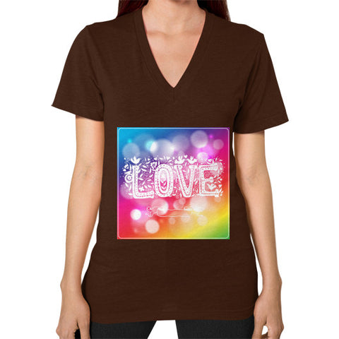 V-Neck (on woman) Brown - Healthcare Blood Test Store