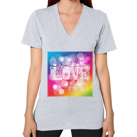 V-Neck (on woman) Heather grey - Healthcare Blood Test Store