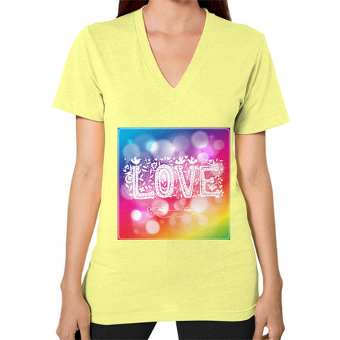 V-Neck (on woman) Lemon - Healthcare Blood Test Store