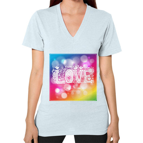 V-Neck (on woman) Light blue - Healthcare Blood Test Store