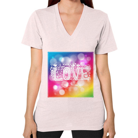 V-Neck (on woman) Light pink - Healthcare Blood Test Store