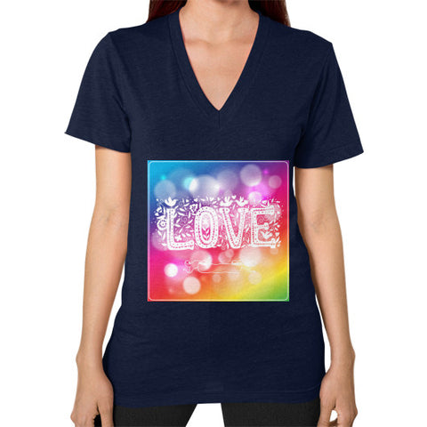 V-Neck (on woman) Navy - Healthcare Blood Test Store