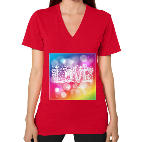 V-Neck (on woman) Red - Healthcare Blood Test Store