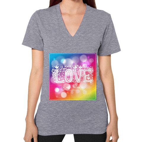 V-Neck (on woman) Tri-Blend Grey - Healthcare Blood Test Store