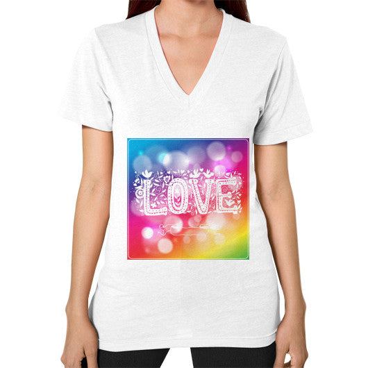 V-Neck (on woman) White - Healthcare Blood Test Store
