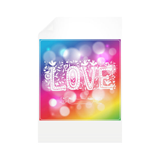 Vertical Wall Decals With Love Sign