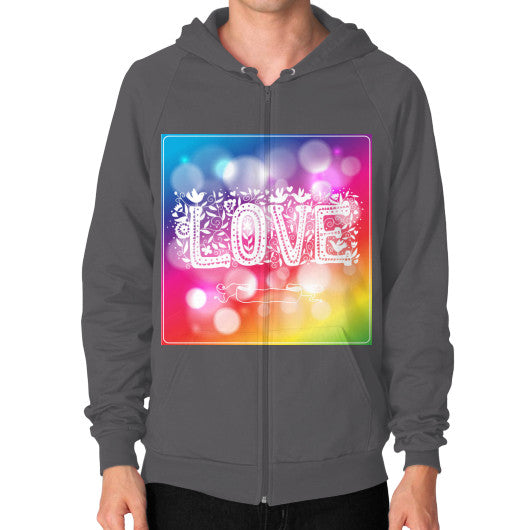 Zip Hoodies for Men With Love sign