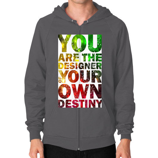Zip Hoodies For Men With Your Own Destiny Sign