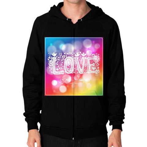 Zip Hoodie (on man) Black - Healthcare Blood Test Store