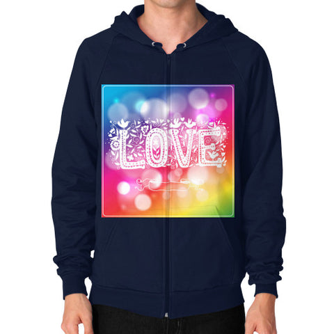 Zip Hoodie (on man) Navy - Healthcare Blood Test Store