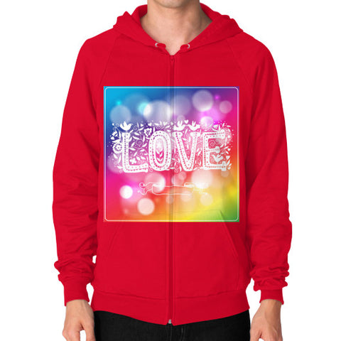 Zip Hoodie (on man) Red - Healthcare Blood Test Store