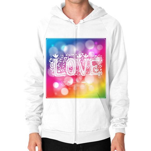 Zip Hoodie (on man) White - Healthcare Blood Test Store