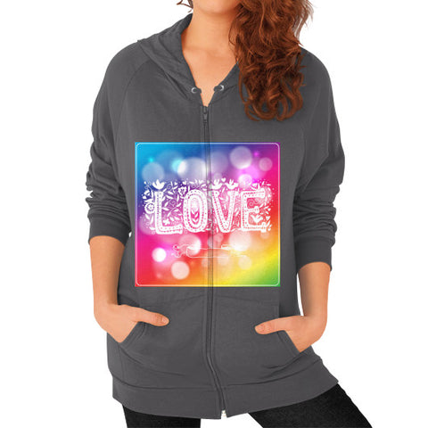 Zip Hoodie (on woman) Asphalt - Healthcare Blood Test Store