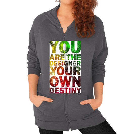 Zip Hoodies For Women With Your Own Destiny Sign