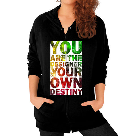Zip Hoodie (on woman) Black - Healthcare Blood Test Store
