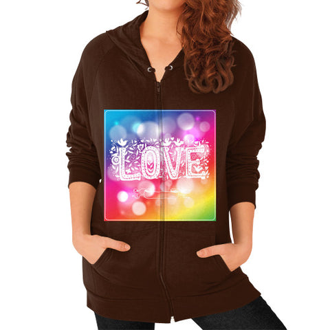 Zip Hoodie (on woman) Brown - Healthcare Blood Test Store