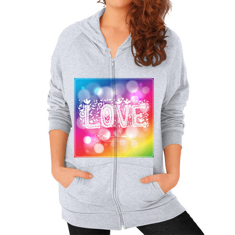 Zip Hoodie (on woman) Heather grey - Healthcare Blood Test Store
