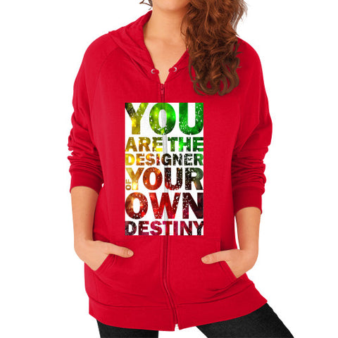 Zip Hoodie (on woman) Red - Healthcare Blood Test Store