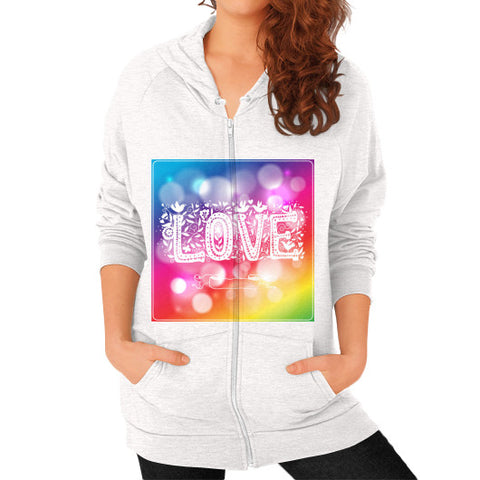 Zip Hoodie (on woman) Tri-Blend Oatmeal - Healthcare Blood Test Store