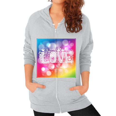 Zip Hoodie (on woman) Tri-Blend Silver - Healthcare Blood Test Store