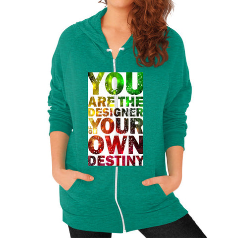Zip Hoodie (on woman) Tri-Blend Vintage Green - Healthcare Blood Test Store