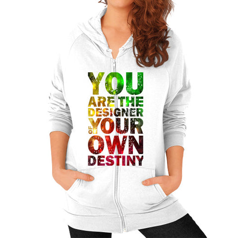 Zip Hoodie (on woman) White - Healthcare Blood Test Store
