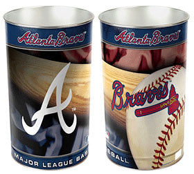 "Atlanta Braves 15"" Waste Basket"