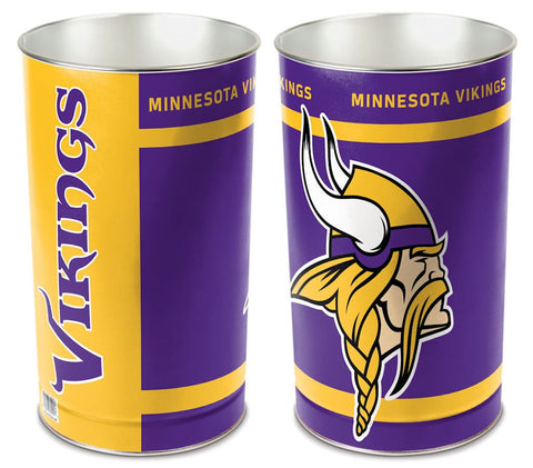 "Minnesota Vikings 15"" Waste Basket"