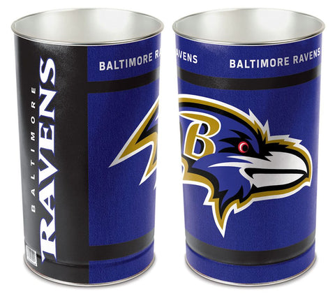 "Baltimore Ravens 15"" Waste Basket"